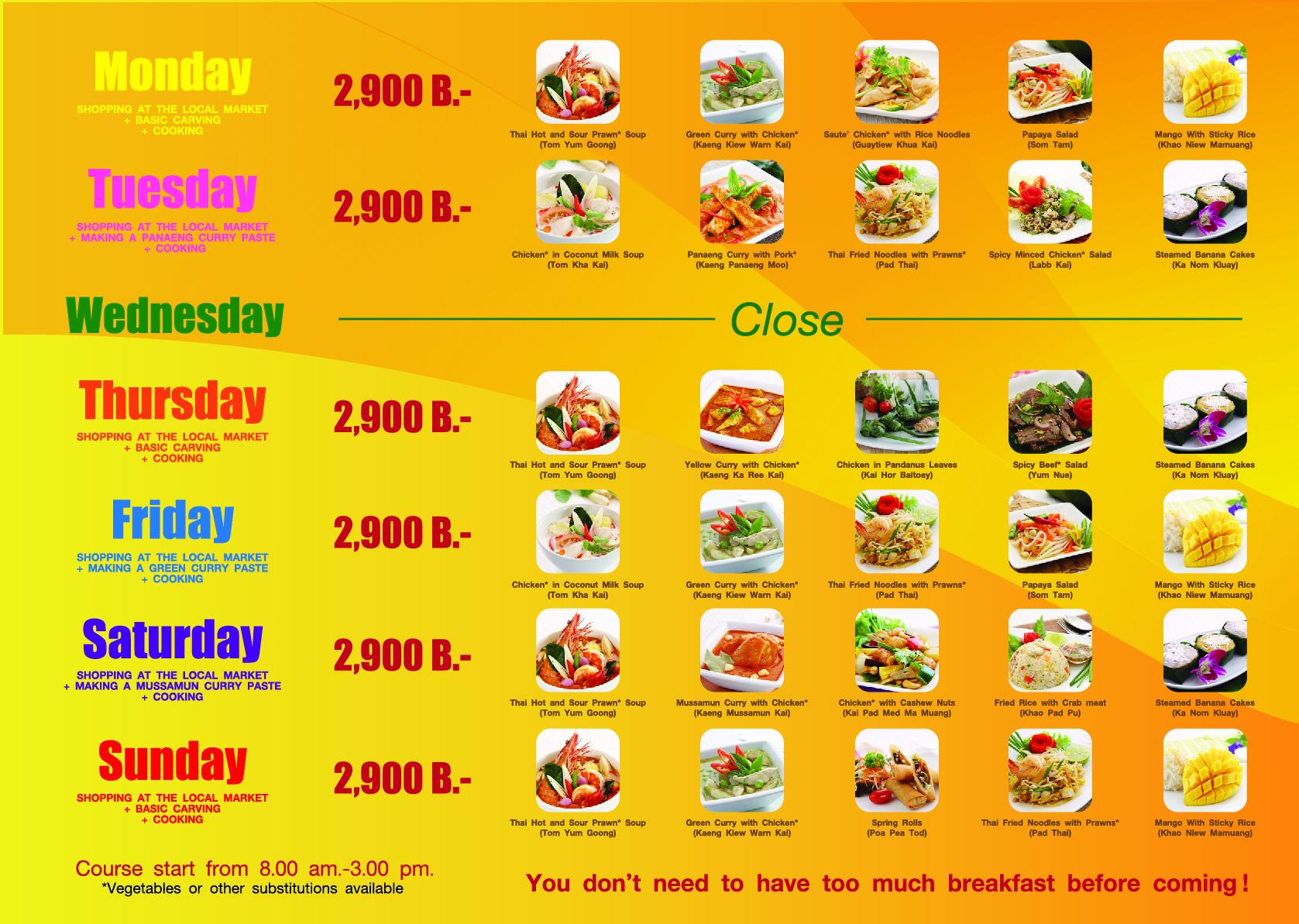Phuket Thai Cookery brochure