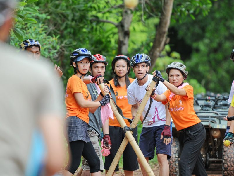 Safari tour by QUAD Bike plus Team Building Games - Phuket (ATVs + BB Gun Target Shooting + Flying Fox + Raft Making)